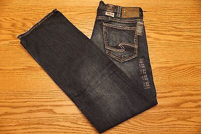 NWT MEN'S SILVER JEANS Multiple Sizes Zac Relaxed Fit Straight Leg Stretch
