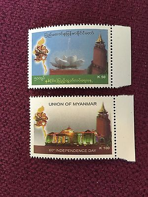 Myanmar 2008 60th Independence Day Stamps MNH