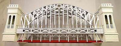 "Mth #10-1016 White & Red Hellgate Bridge For Standard Or ""0"" Gauge-New In Box!!"