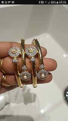 22 ct gold plated American diamond ,indian /english jewellery  bangles 2.6