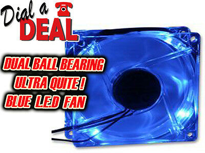PC Fan BLUE LED  arcade table pc etc    twin ball bearing 120mm