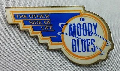 "Original 1986 MOODY BLUES ""The Other Side Of Life"" PIN  Authentic- Classic Rock!"