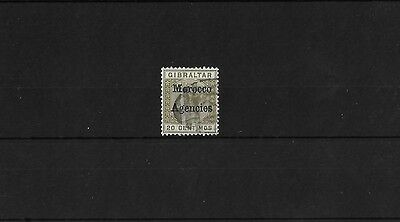 MOROCCO AGENCIES: SPANISH 20c OLIVE GREEN, TYPE I USED, SG3c, CAT £12