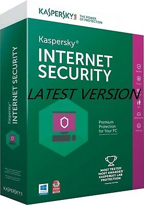 Kaspersky INTERNET SECURITY 2017-2018, 3 PC 2 Year for Window - License Key A+