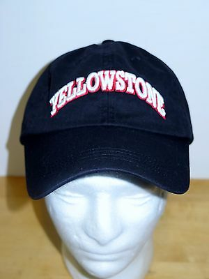 Yellowstone Embroidered Black Adjustable Hat