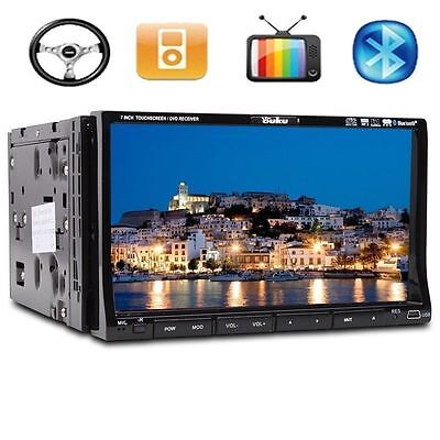 """CA9 Samsung Lens Double 2 Din 7"""" In Dash Stereo Car DVD Player BT Radio iPod SD"""