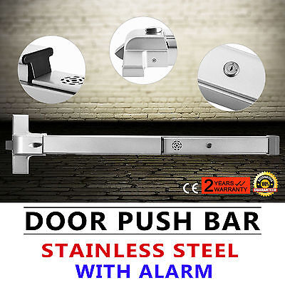 Door Push Bar Exit Lock w/ Alarm fire-proof rounded easy escape stoving varnish