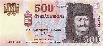 Hungary 2005 500 Forint P-188d UNC