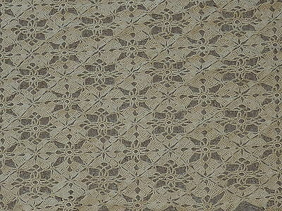 "Vintage Crochet Brown  Lace Table Runner / Dresser Scarf 40"" by 12"""