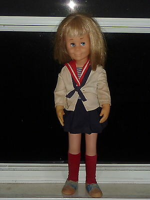 """Vintage 24"""" TALKING CHARMIN CHATTY With Original Sailor Outfit 1 Record 1962"""