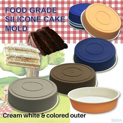 Cake Baking Mold Round Silicone Pan Chiffon Mould Pie Chocolate Simple Tray New