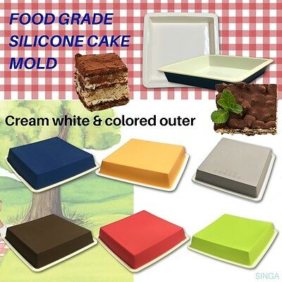 Cake Mold Chocolate Candy Fondant Silicone Baking Mould Square Bakeware Pan