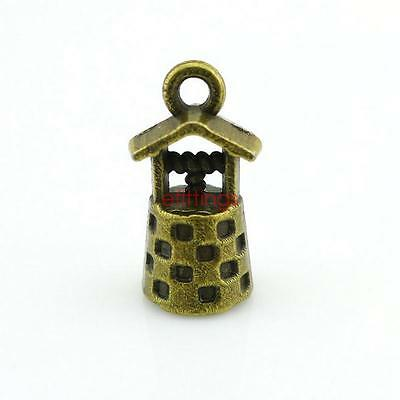 10x Well House Shape Charm Pendant 17mm Jewelry Findings