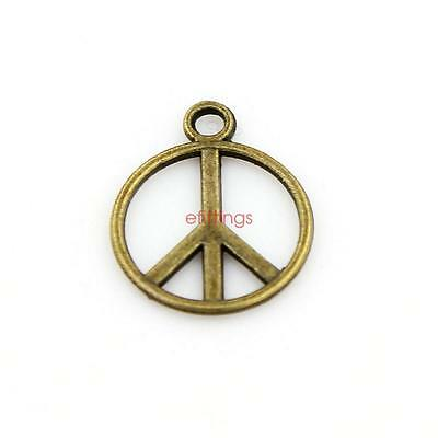 Wholesale 50x Peace Shape Charm Pendant 16mm Jewelry Findings