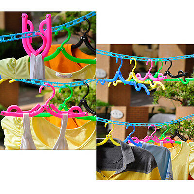Plastic Hook Fold Hanger Clothes Pegs Laundry Product Travel Space Saving Hanger
