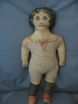 1899 Cloth Advertising Doll **miss Flaked Rice** Printed Fabric -