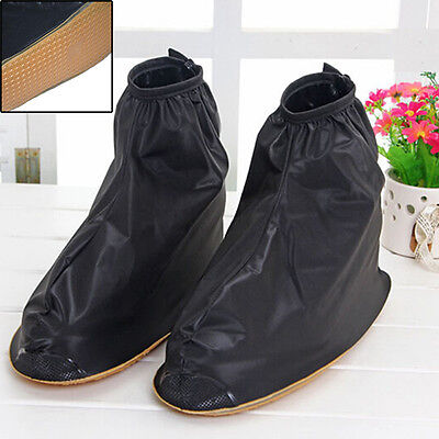Men's Reusable Rain Shoe Covers Waterproof shoes Overshoes Boot Gear Anti-slip
