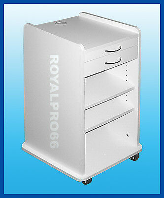 Medical Dental Equipment Utility Mobile Cabinet Cart White