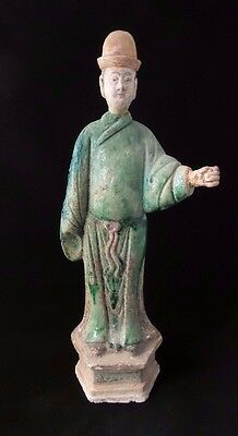 Large Chinese Ming Dynasty Terra-Cotta Tomb Attendant Figure (ca. 1368–1644 AD)