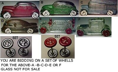 Glass Candy Container Wheels