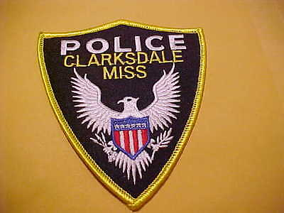 Clarksdale Mississippi   Police Patch Shoulder Size Unused T2