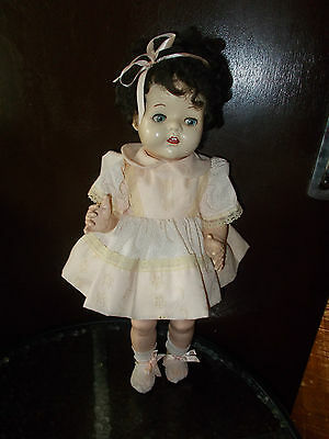 *JACQUELINE* 21INCH HARD PLASTIC ENGLISH PEDIGREE FROM 1950s COLLECTORS DOLL.