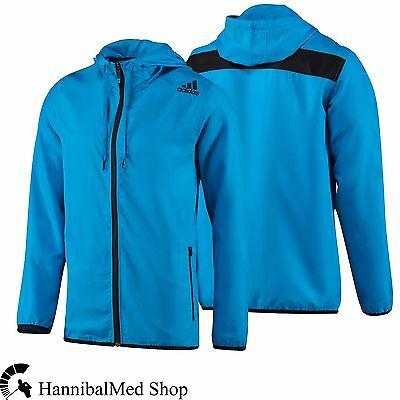 Adidas Ultimate Base Full Zip Woven Hood D88063 Blue/Black Training Men's Jacket
