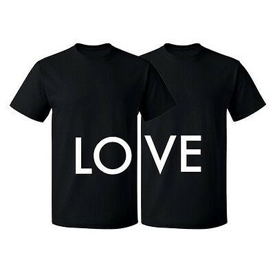 Couple Matching T-shirt Love Tshirt-LO VE Valentines Day Couple Shirts-V-Day