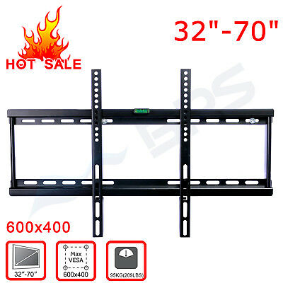 Slim Tilt Tv Wall Mount Bracket Led Lcd Plasma 32 40 42 46 48 50 52 55 60 65 70""