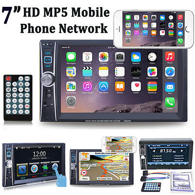 "6.6"" Double 2DIN Car Stereo MP5 MP3 Player Touch Screen Bluetooth FM iPod Radio"