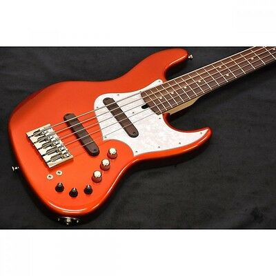 XOTIC XJ-1T 5st 5-string Candy Orange/Alder/Rose Gig case From JAPAN #H102