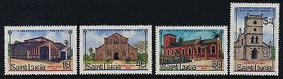St Lucia 867-70 MNH Churches, Christmas, Architecture