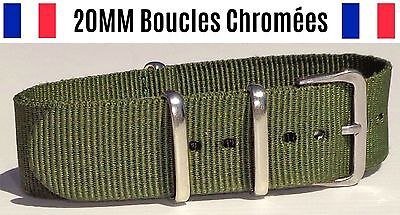 NATO ★ 20MM ★ N°3 ★ Bracelet montre Watch Band Strap Nylon Military Army Fashion