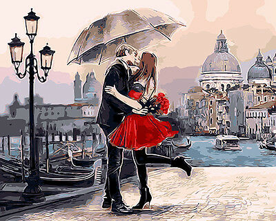 """16""""x20"""" Dimensions DIY Paint By Number Kit On Canvas--Romantic Kiss 1001"""