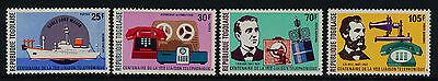 Togo 928-9, C276-7 MNH Telephone, Cable Laying Ship, A.G. Bell, Edison