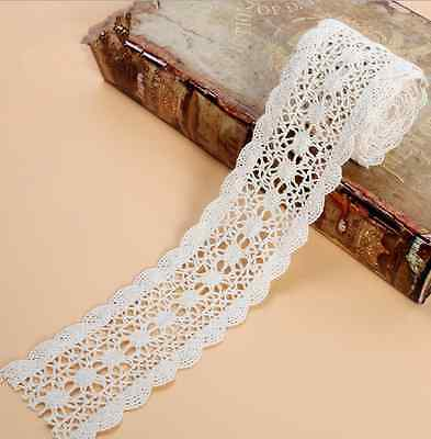 2 yards Cotton Knitted Lace Trim Wedding dress clothing accesories 5.8cm
