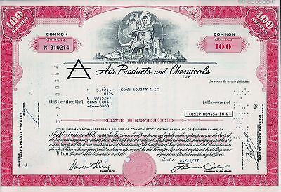 Air Products and Chemicals Inc., Delaware, 1977 (100 Shares, rot)