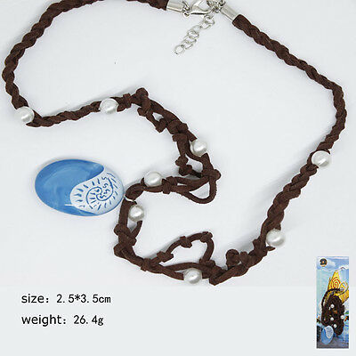 Moana Cosplay Necklace Blue Pendant Handcrafted Necklace Anime  Collectibls