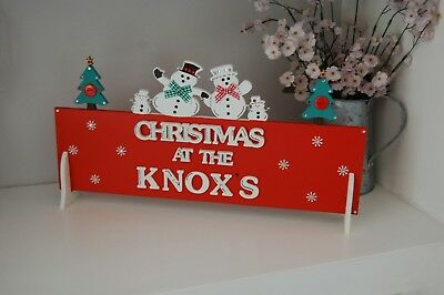 Christmas Sign, Personalised to any surname, Christmas Gift or Decoration Plaque