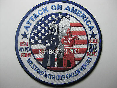 U.s. Polizei Police Aufnäher Patch Nypd Attack On America 9-11-01 Neu Fasching