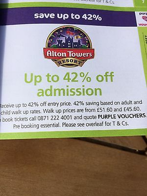 Alton Towers 42% Off Admission