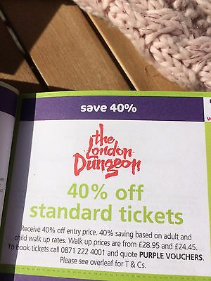 The London Dungeons 40% Off Admission