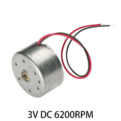 3V DC 6200RPM High-power Torque Magnetic Mini Electric Motor 2 Terminals Connect