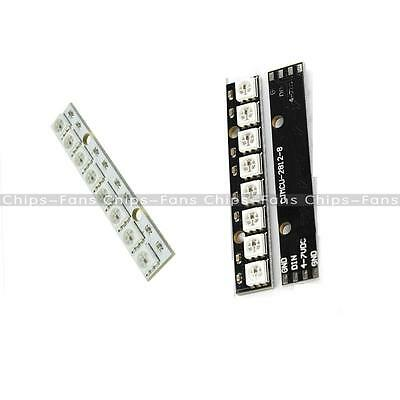 WS2812 1*8 8-Bit 8 Channel Full Color 5050 RGB LED Lamp Panel Light Black White