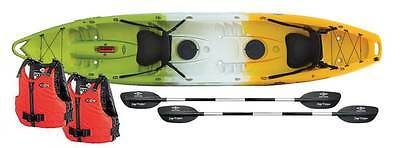 Ex Demo Feel Free Corona Kayak Package Deal- Red/Yellow