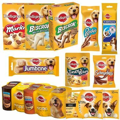 Pedigree | Selection of Dog Food / Treats | Biscuits Chews Pouches | Adult Dog