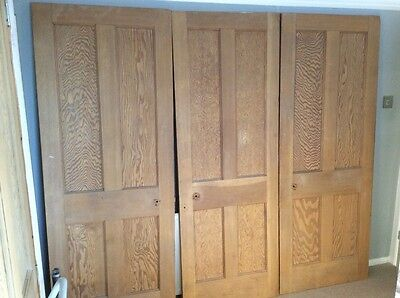Interal pitch pine doors x4