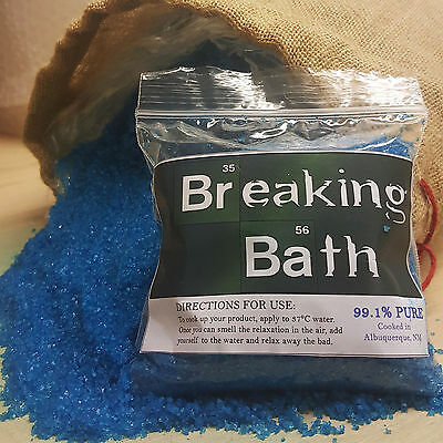 Breaking Bad - Blue Meth - Novelty Bath Salts - To Go With Christmas Jumper P&p!