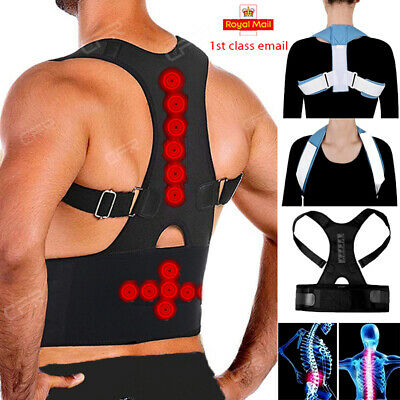 Therapy Posture Corrector Back Shoulder Support Brace Straightener Black HT