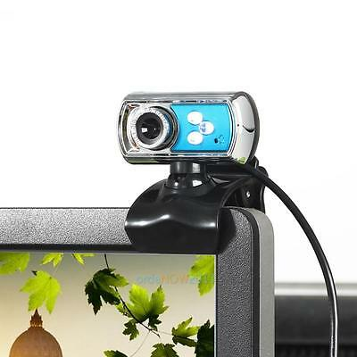 USB Clip-on Webcam Camera HD 12.0 MP Night Vision  Microphone MIC for Computer